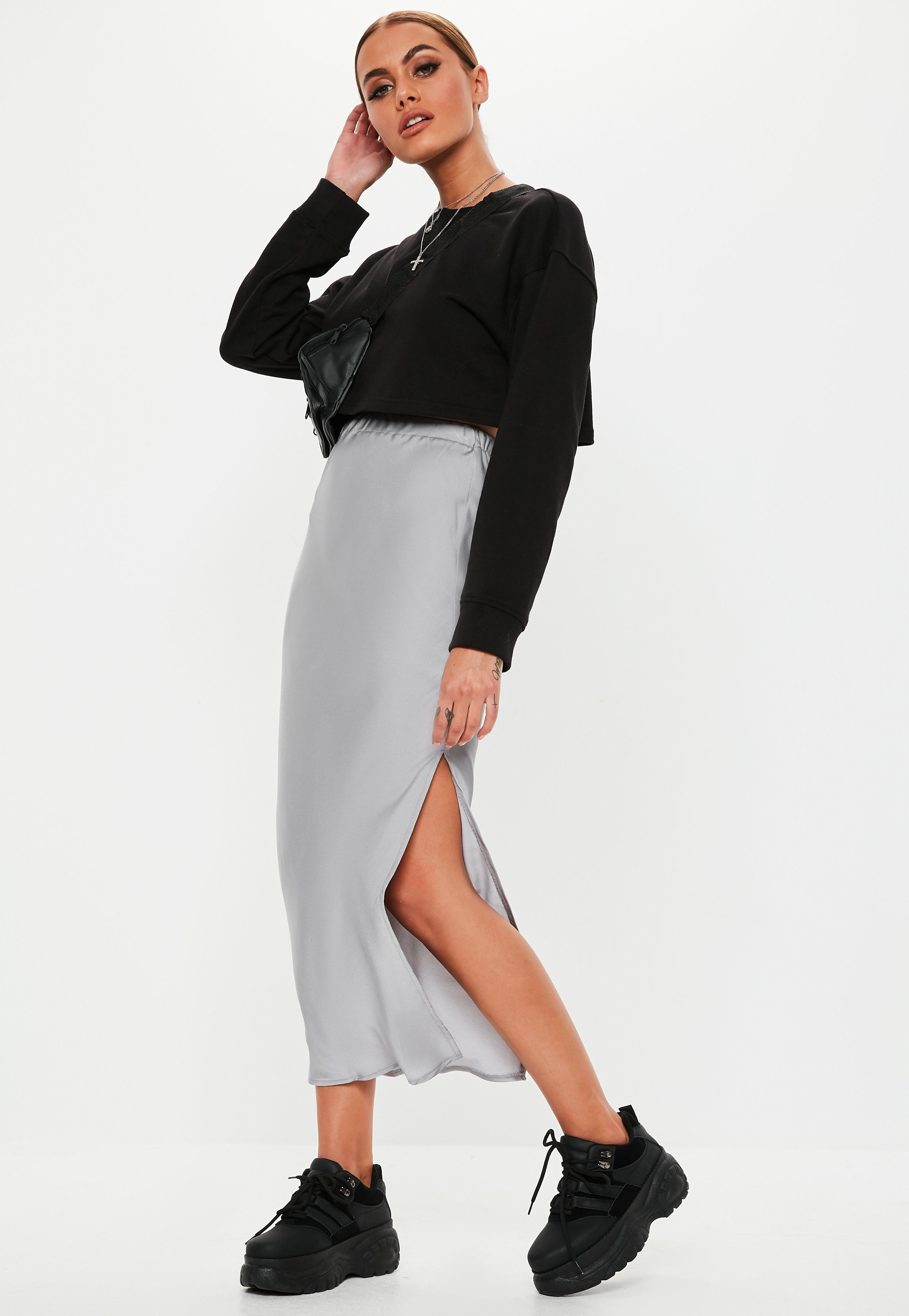Missguided Checked Red Skirt Midi Size Uk 6 Damenmode Kleidung & Accessoires