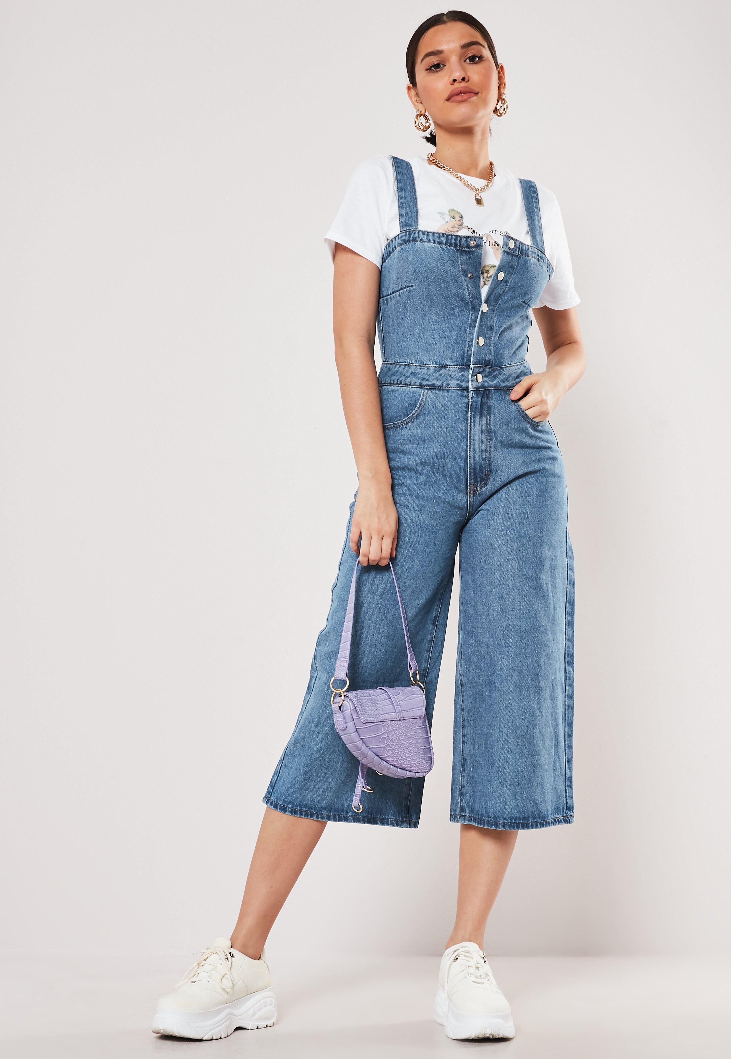 Bleu Combinaison Culotte Combinaison Culotte En Jeans PlkTOuZwXi