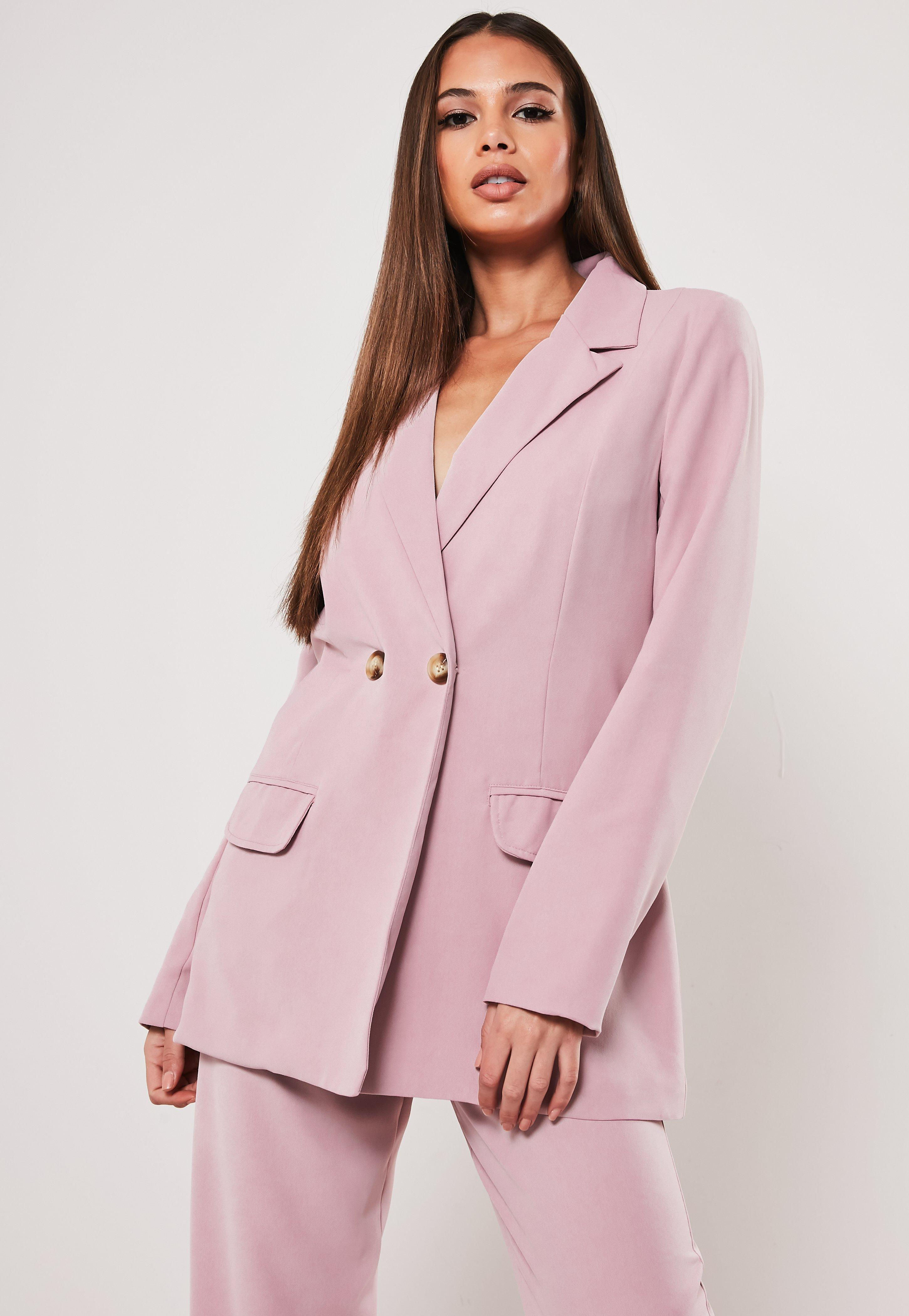 Tall Co Ord Lilac Double Breasted Blazer by Missguided