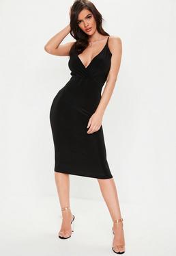 170406b6860 ... Tall Black Lace Open Back Midi Dress