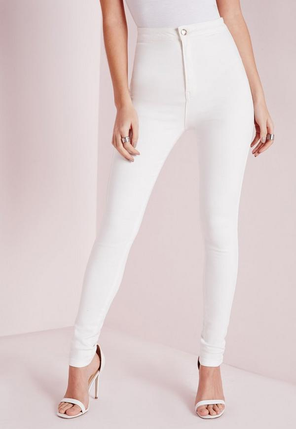Super skinny jeans white