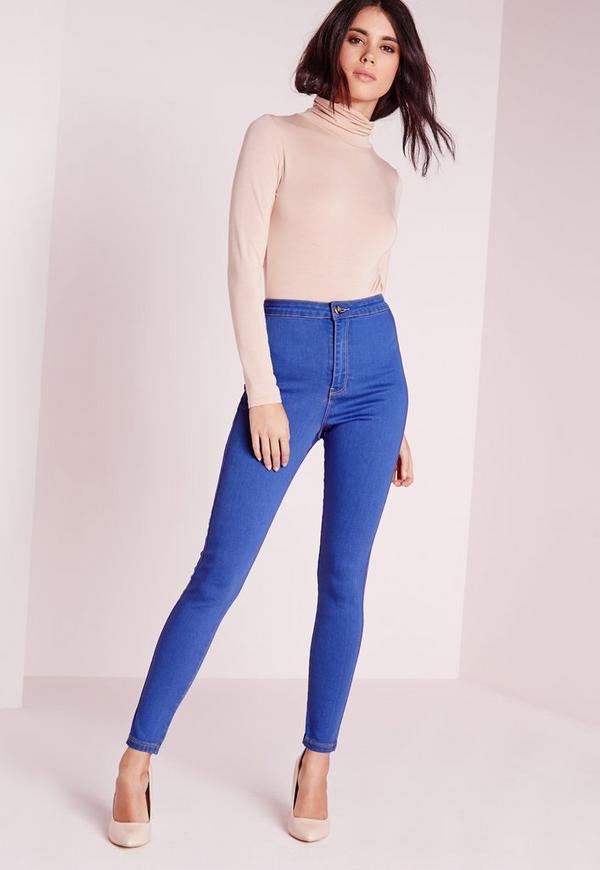 Petite Vice HighWaisted Tube Jeans Brady Blue