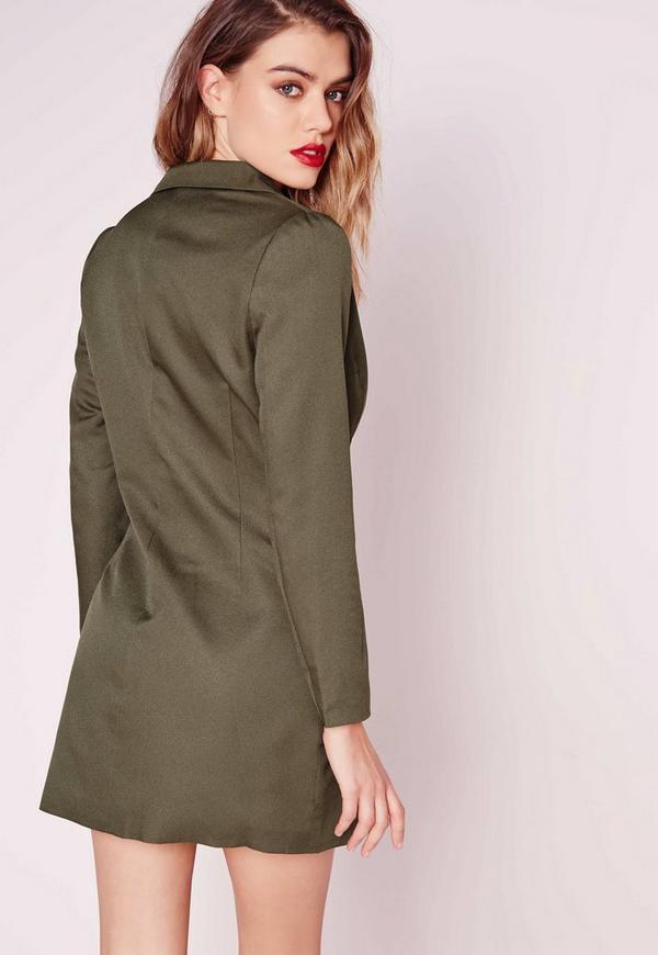 robe blazer vert kaki exclusivit petite missguided. Black Bedroom Furniture Sets. Home Design Ideas