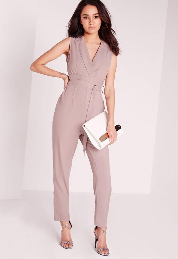 Petite D-Ring Jumpsuit Grey