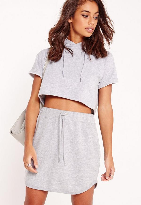 Petite Exclusive Sweat Skirt Grey