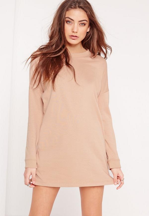 Petite Sweater Dress Camel