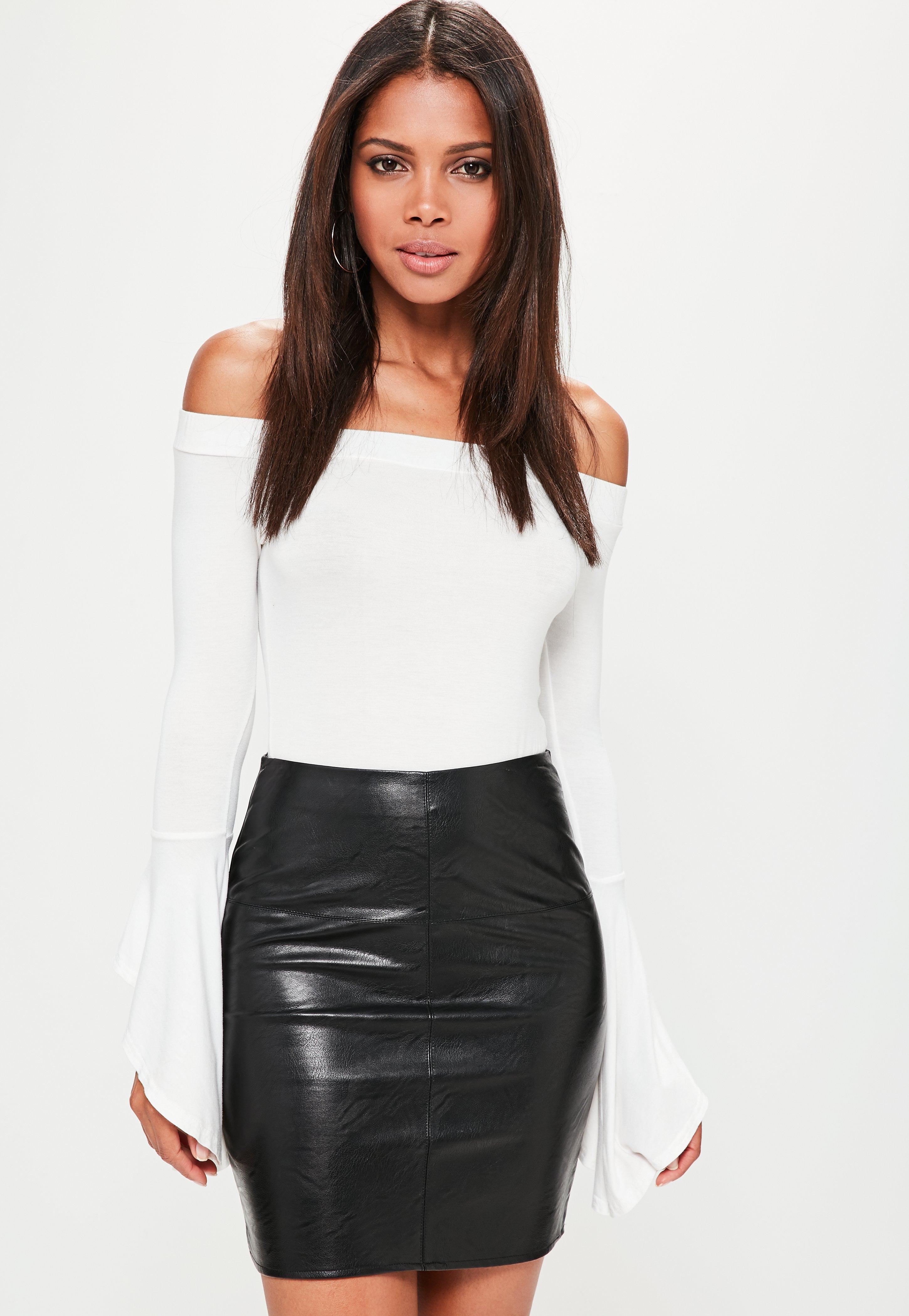 a2e2eb1d78 Petite Black Faux Leather Mini Skirt | Missguided