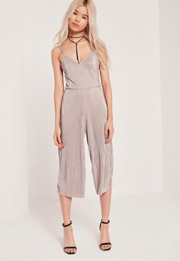 Combi jupe-culotte nude plissée exclusivité Petite