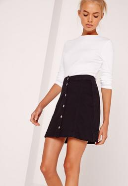 Petite Crew Neck Ribbed Long Sleeved Top White