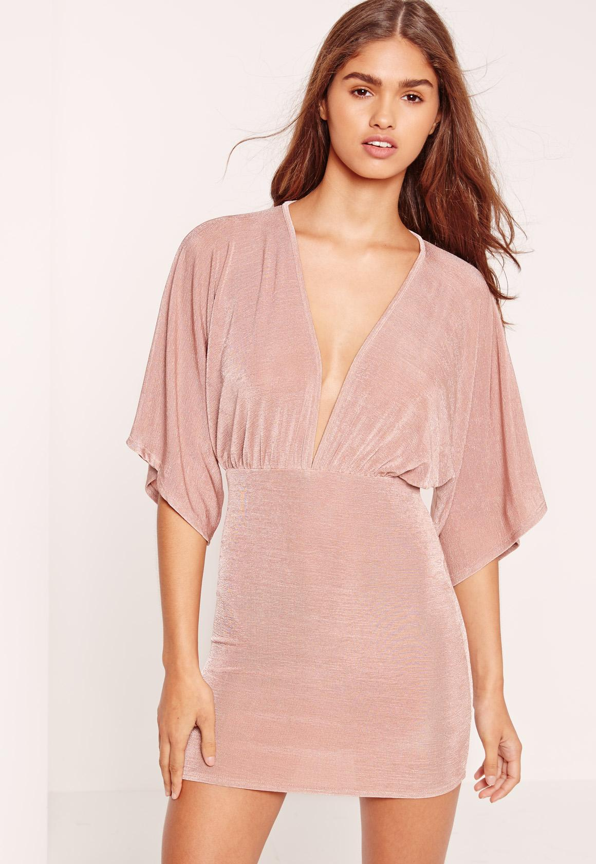 Petite Slinky Mini Dress Pink  59d9c9c9c7f