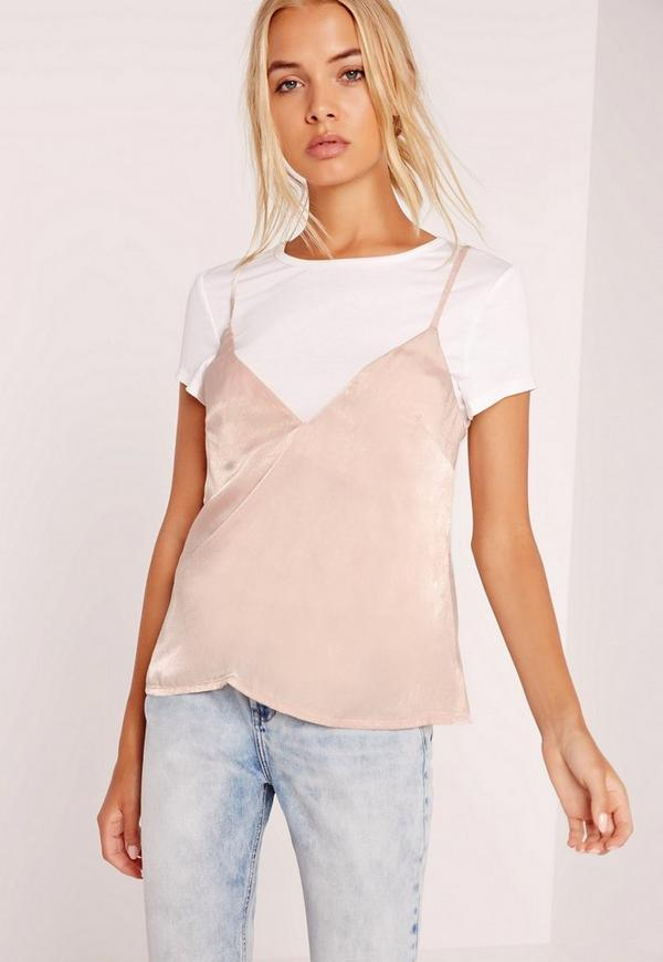 Image result for camisole over shirt colors