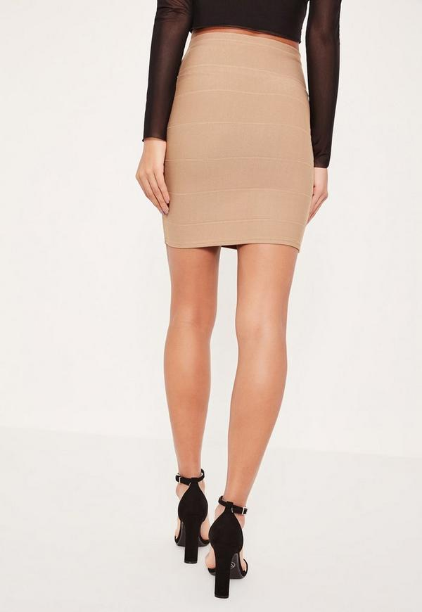 Petite Brown Bandage Mini Skirt | Missguided
