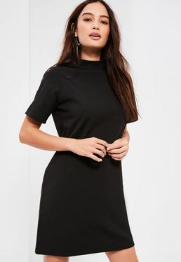 Petite black scuba t-shirt dress