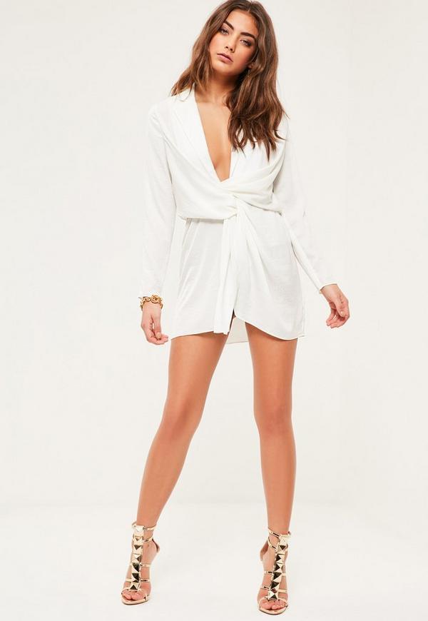 White Satin Dress