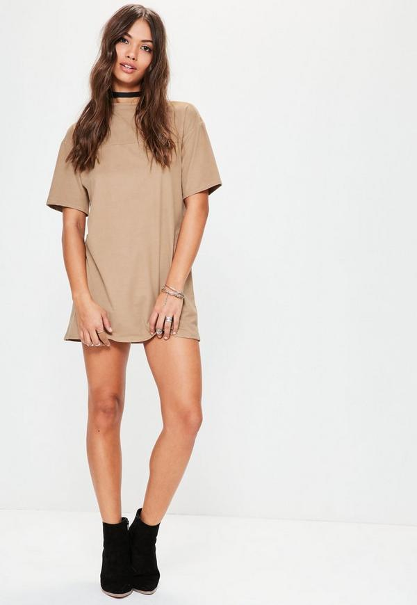 White suede t dress