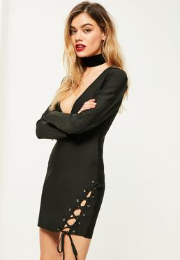 Petite Exclusive Premium Black Bandage Dress