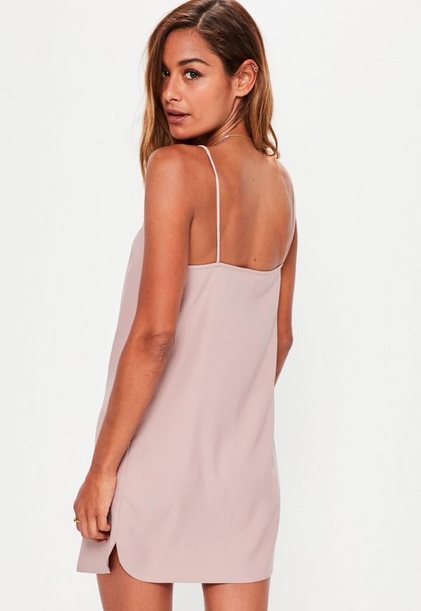 90888422df ... Petite Pink Crepe Shift Dress. Previous Next