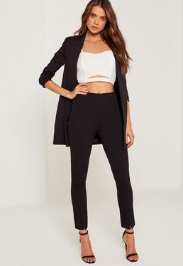Petite Black Skinny Fit Cigarette Trousers