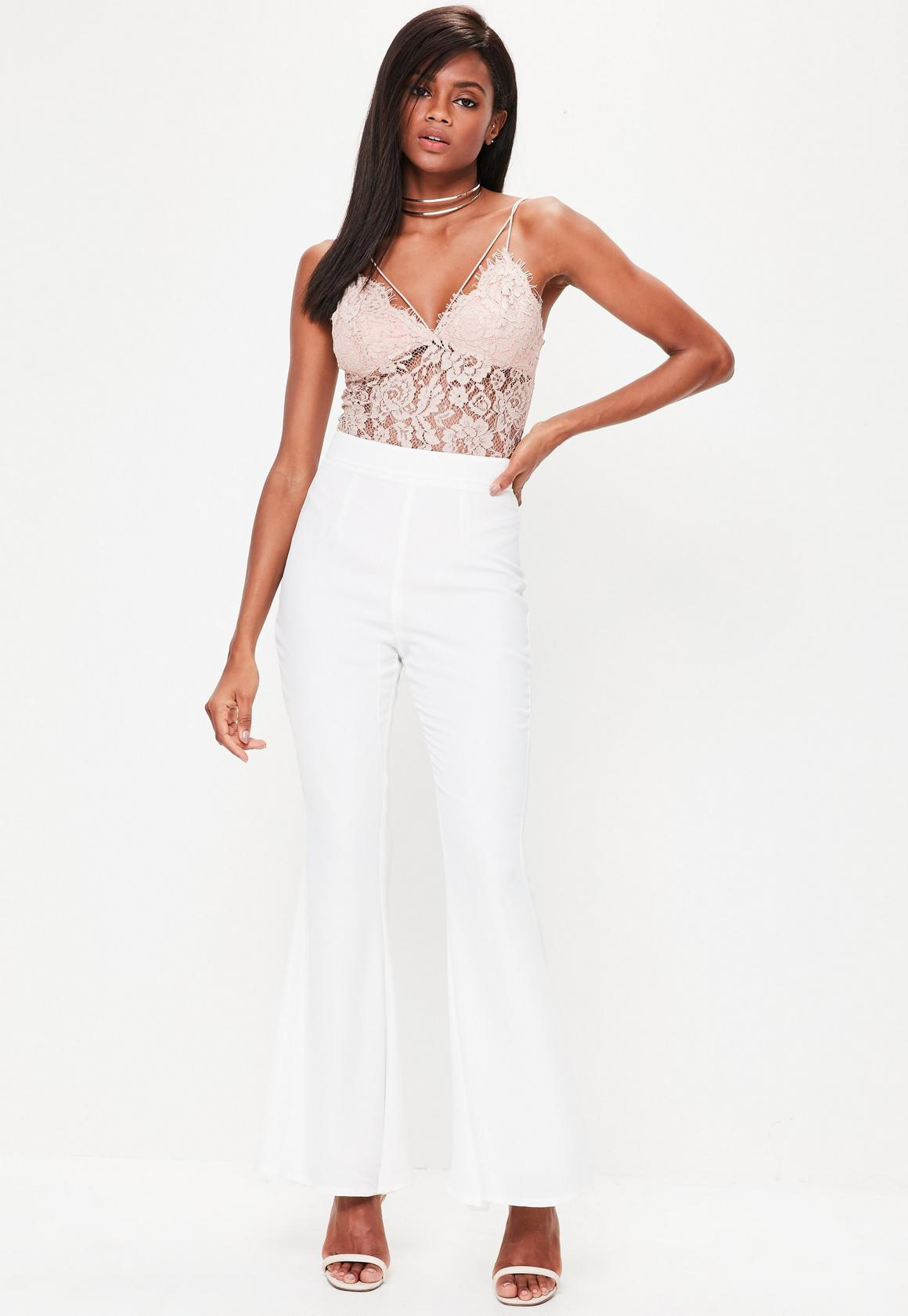 attractivedesigns speical offer arrives Petite White Kick Flare Trousers, White