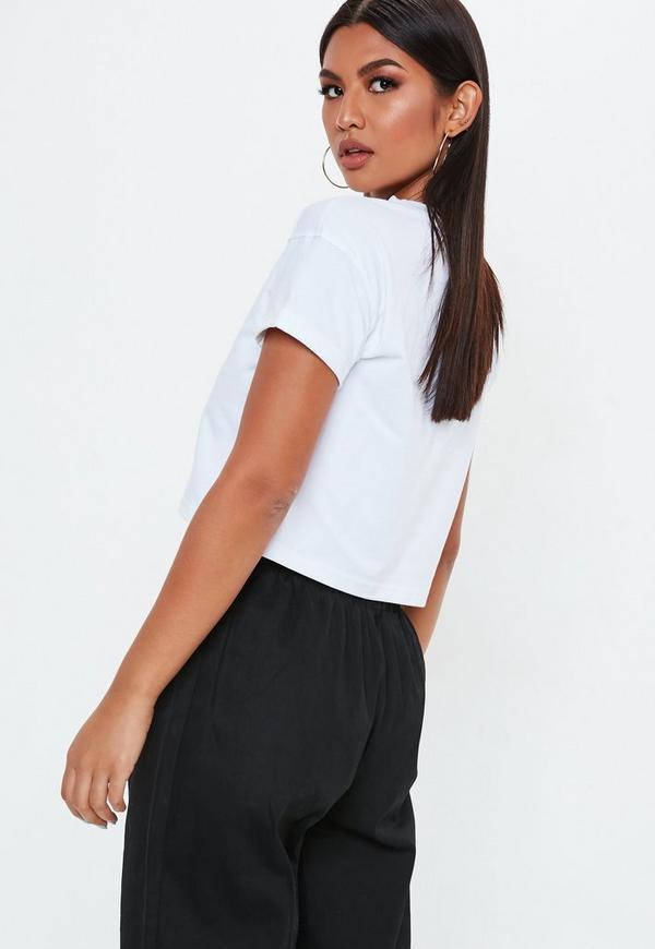 293275435523d ... Roll Sleeve Cropped Top. Previous Next