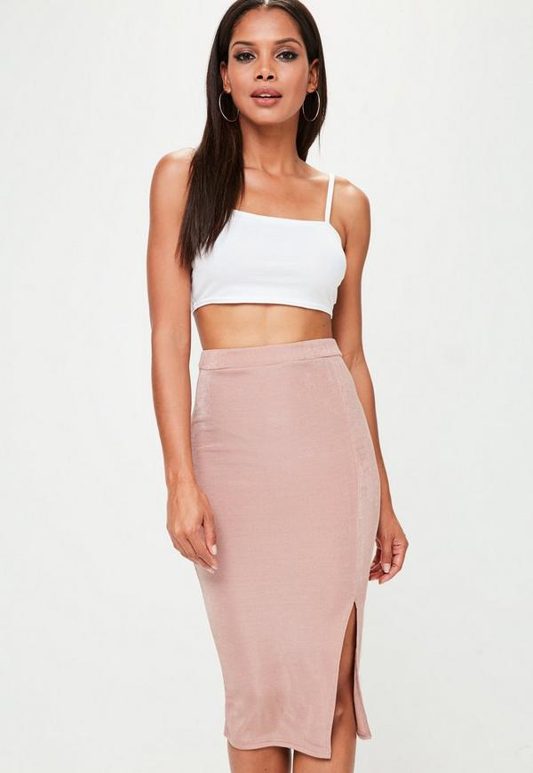 Petite white basic jersey cropped top