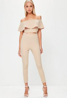 Petite Pink Tapered Trousers