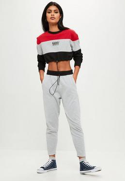 Pantalón de chándal petite en gris