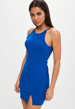 Petite Blue Scuba Mini Dress