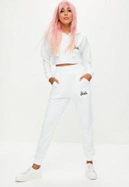 Petite Barbie x Missguided White Plain Jogger