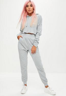 Petite Barbie x Missguided Grey Plain Jogger