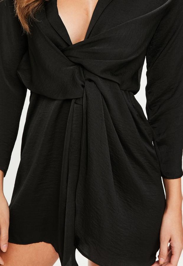 Missguided - Satin Plunge Dress - 3