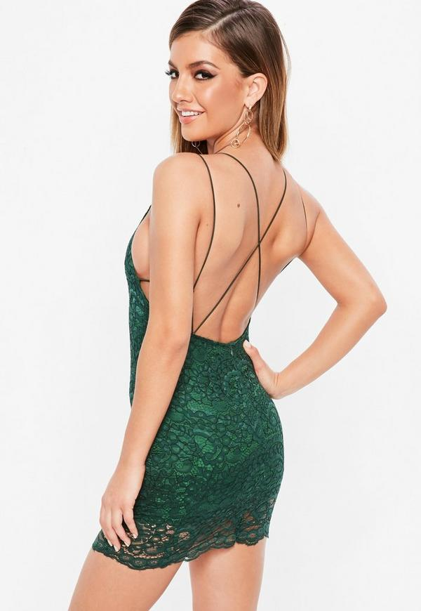 Petite Green Lace Dress