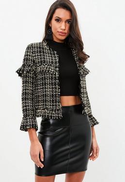 Petite Black Boucle Tailored Jacket