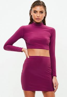 Petite Slinky Co Ord Skirt