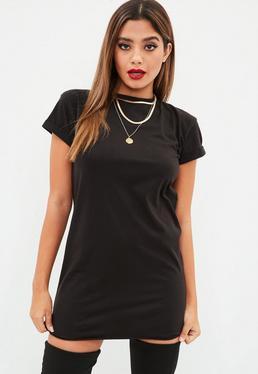 Petite Czarna sukienka T-Shirt