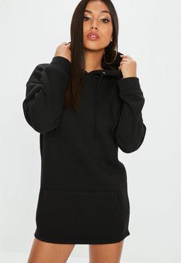 Vestido sudadera petite en negro