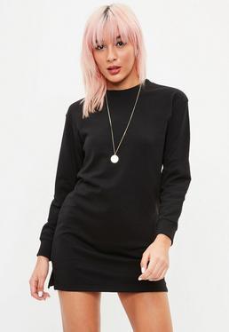 Petite Black Sweater Dress