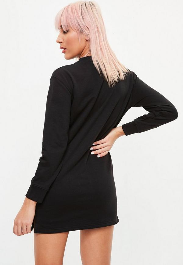 Petite Black Sweater Dress by Missguided