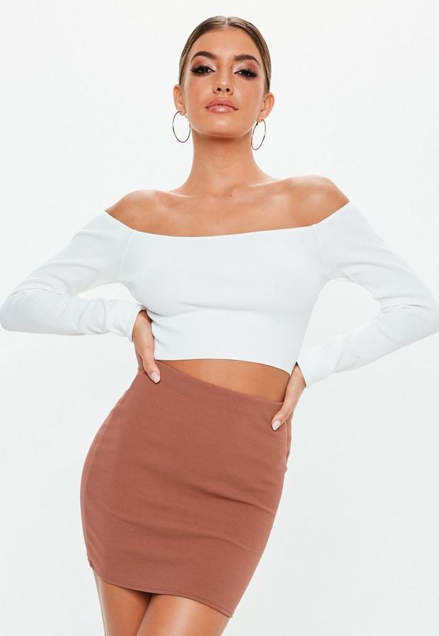 petite rose pink basic skirt