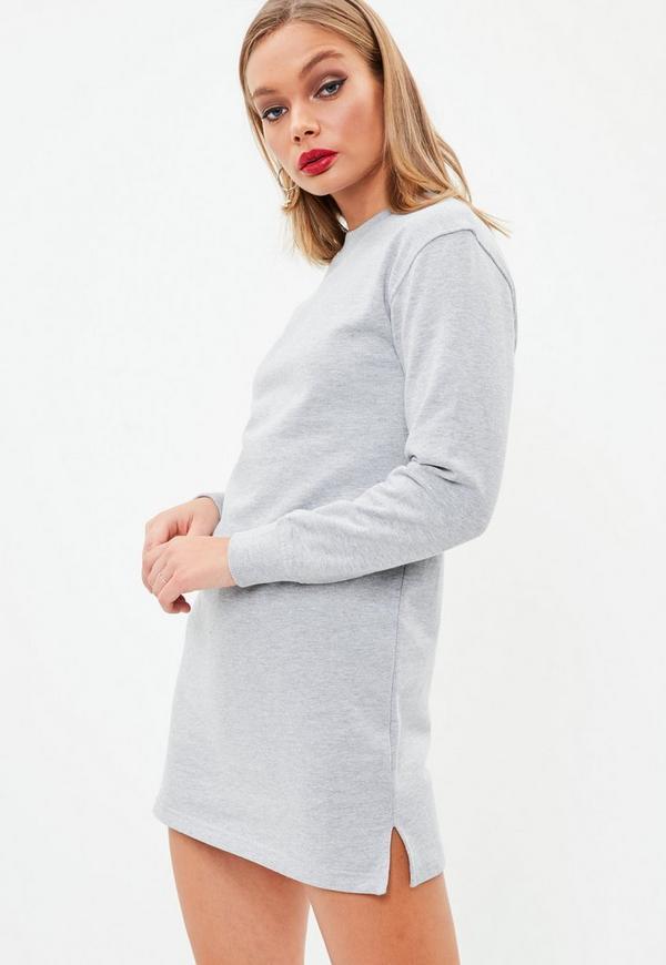 Petite gray sweatshirt dress