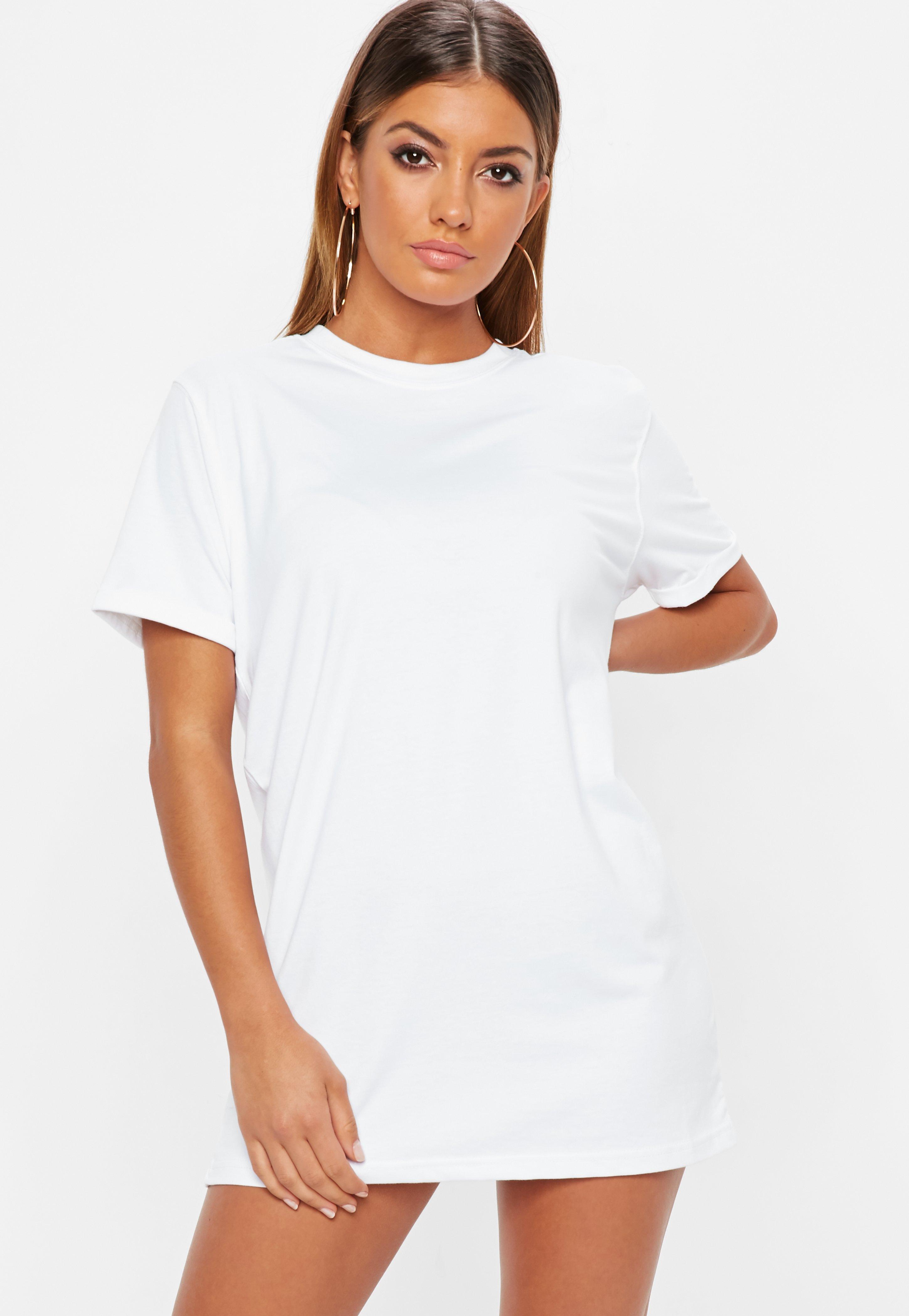T-Shirt-Kleid – T-Shirt-Kleider online shoppen - Missguided DE 5f25ef81d3