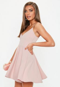 Black Bardot Tassel Skater Dress · Petite Pink Strappy Scuba Skater Dress 75aa3200c