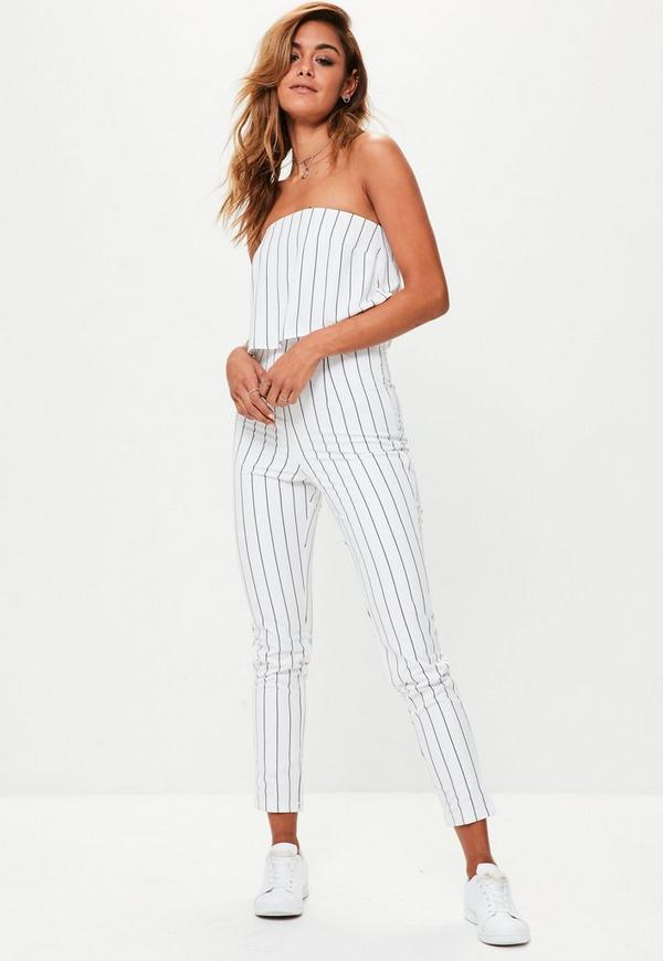 33a7702ae538 ... Petite White Bandeau Double Layer Jumpsuit. Previous Next