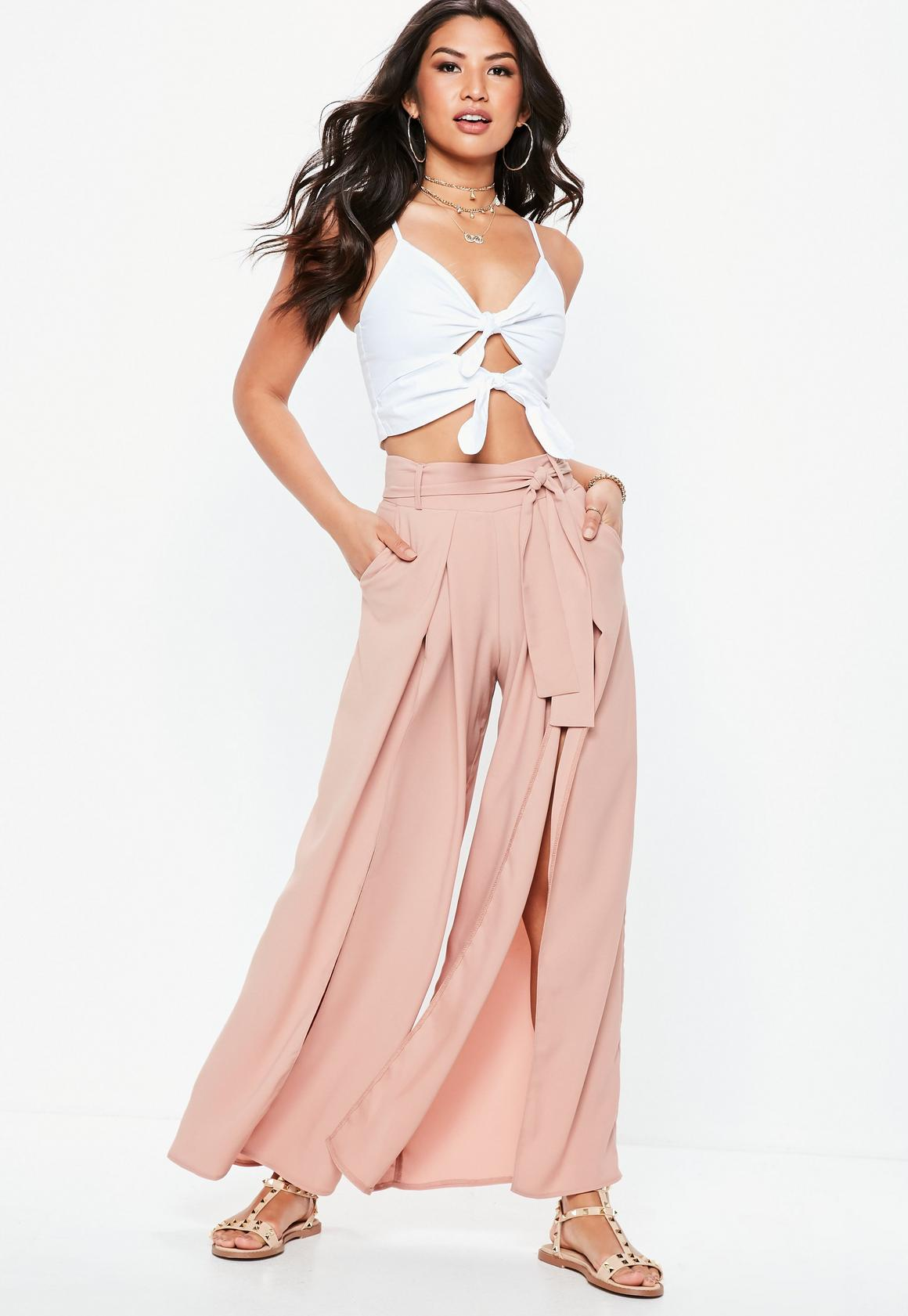 fec6baa578f4 ... Belted Wide Leg Pants. Hover to Zoom