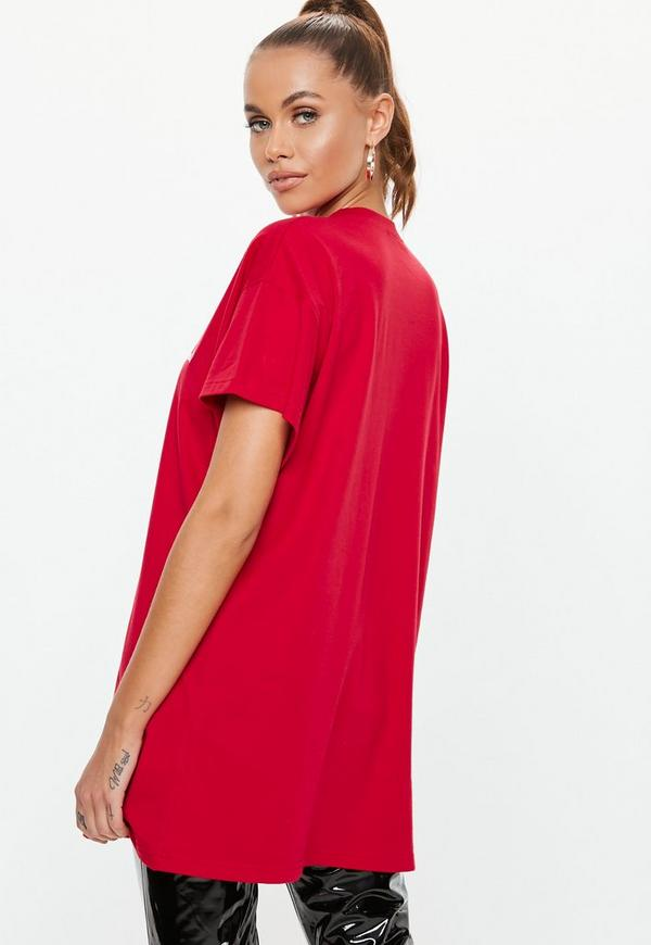 Petite Red Oversized Define Good T Shirt
