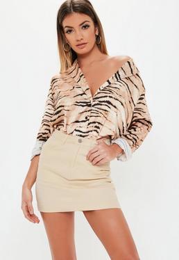 131f1c3a9 Cream Denim Skirts | Women's Cream Denim Skirts Online - Missguided