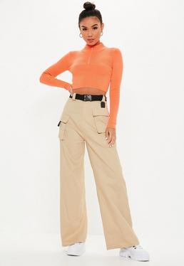 93c392d1 Nude Trousers | Beige & Camel Trousers - Missguided