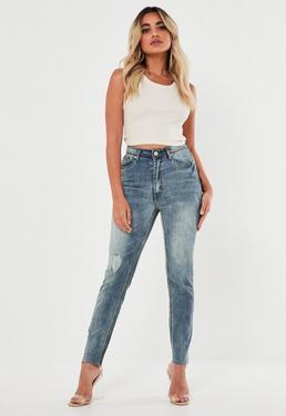 429ea3c4d79 Petite Blue Sinner Vintage Ripped Knee Jeans