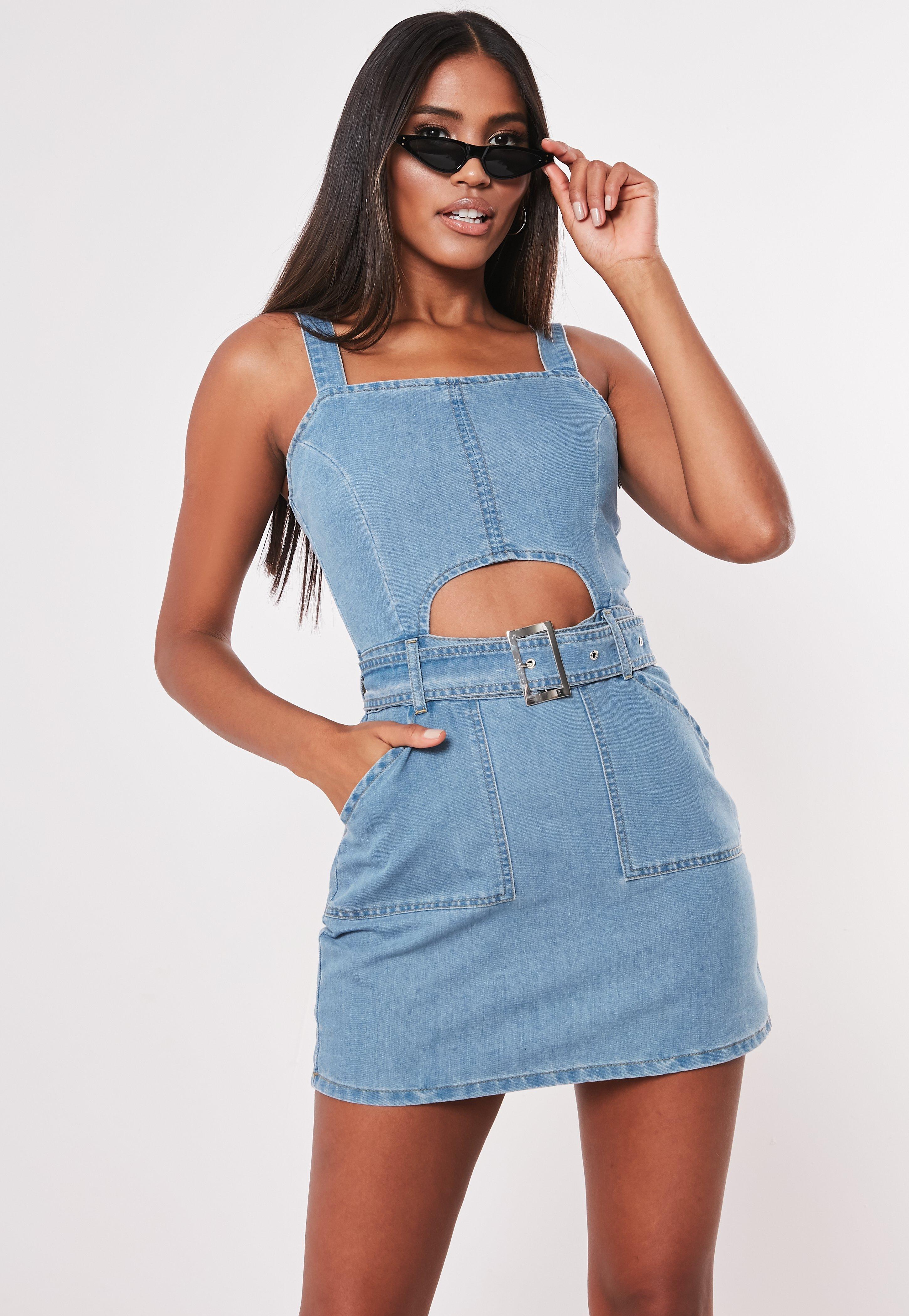 05ff7dd6fe8 Petite Blue Denim Cami Dress