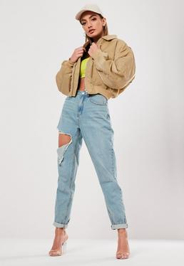 be0bfff0f4c ... Petite Sand Ultimate Padded Utility Bomber Jacket